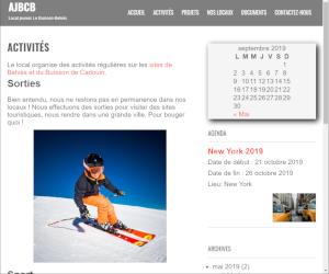 Page de présentation des activités organisées par ajbcb