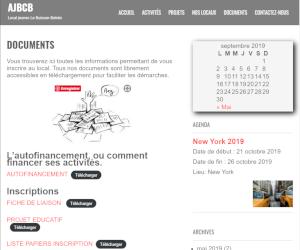 Page des documents téléchargeables du site ajbcb.fr