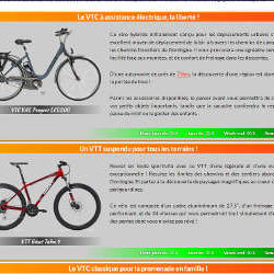 Page de location des vélos
