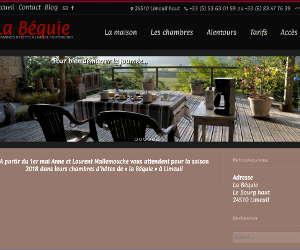 Page d'accueil du site internet de La Béquie